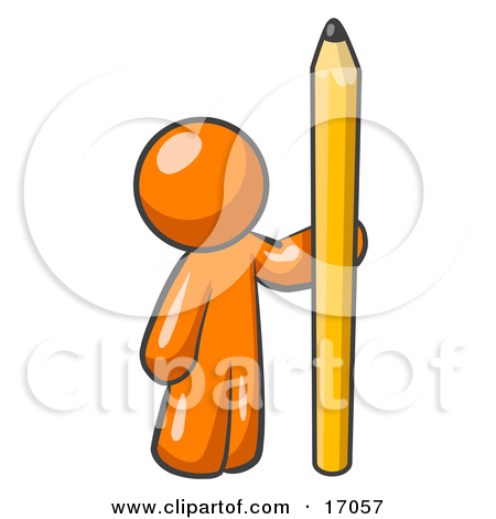 Yellow Number Two Pencil Clipart Illustration By Leo Blanchette  17057