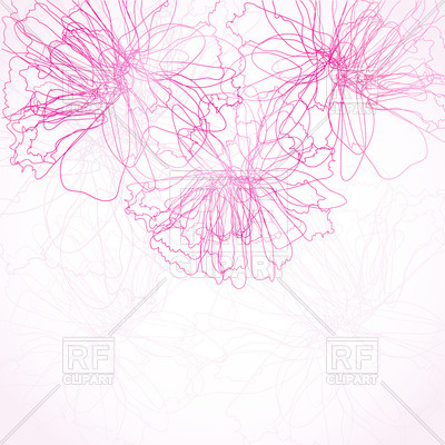 Absract Pen Drawn Silhouettes Of Peony Flowers 23115 Backgrounds