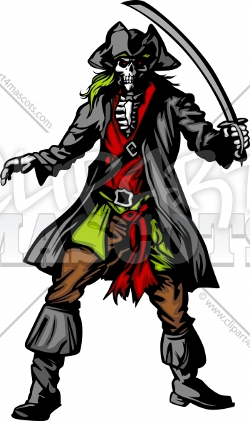 Assortment Of Mascot Clipart Similar To This Pirate Mascot Clipart