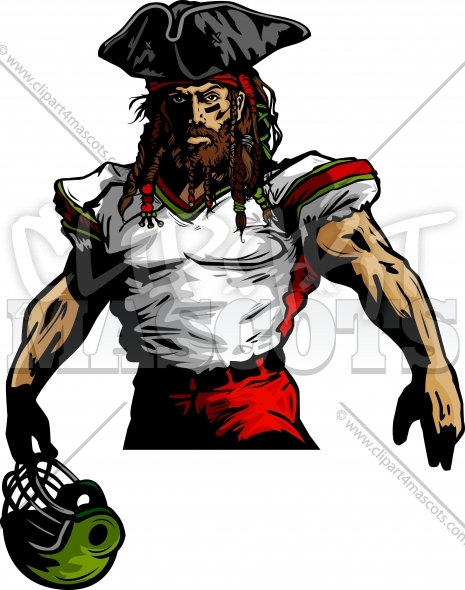 Clipart Football Pirate Cartoon   Football Design  1470