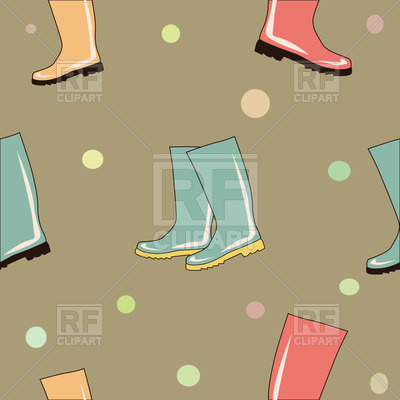 Colorful Rubber Boots Seamless Background   Gumboots 34067 Download
