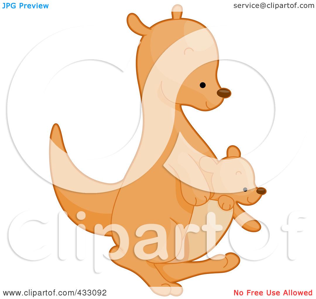 Cute Kangaroo Clipart - Clipart Kid