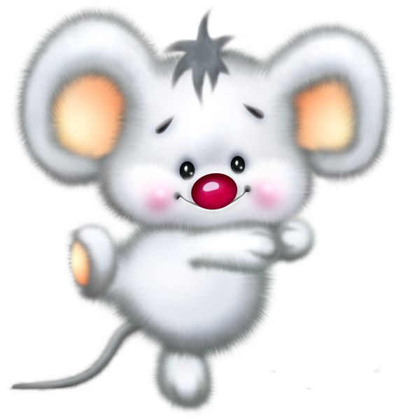 Gallery Free Clipart Picture  Cartoons Png Cute White Mouse Car