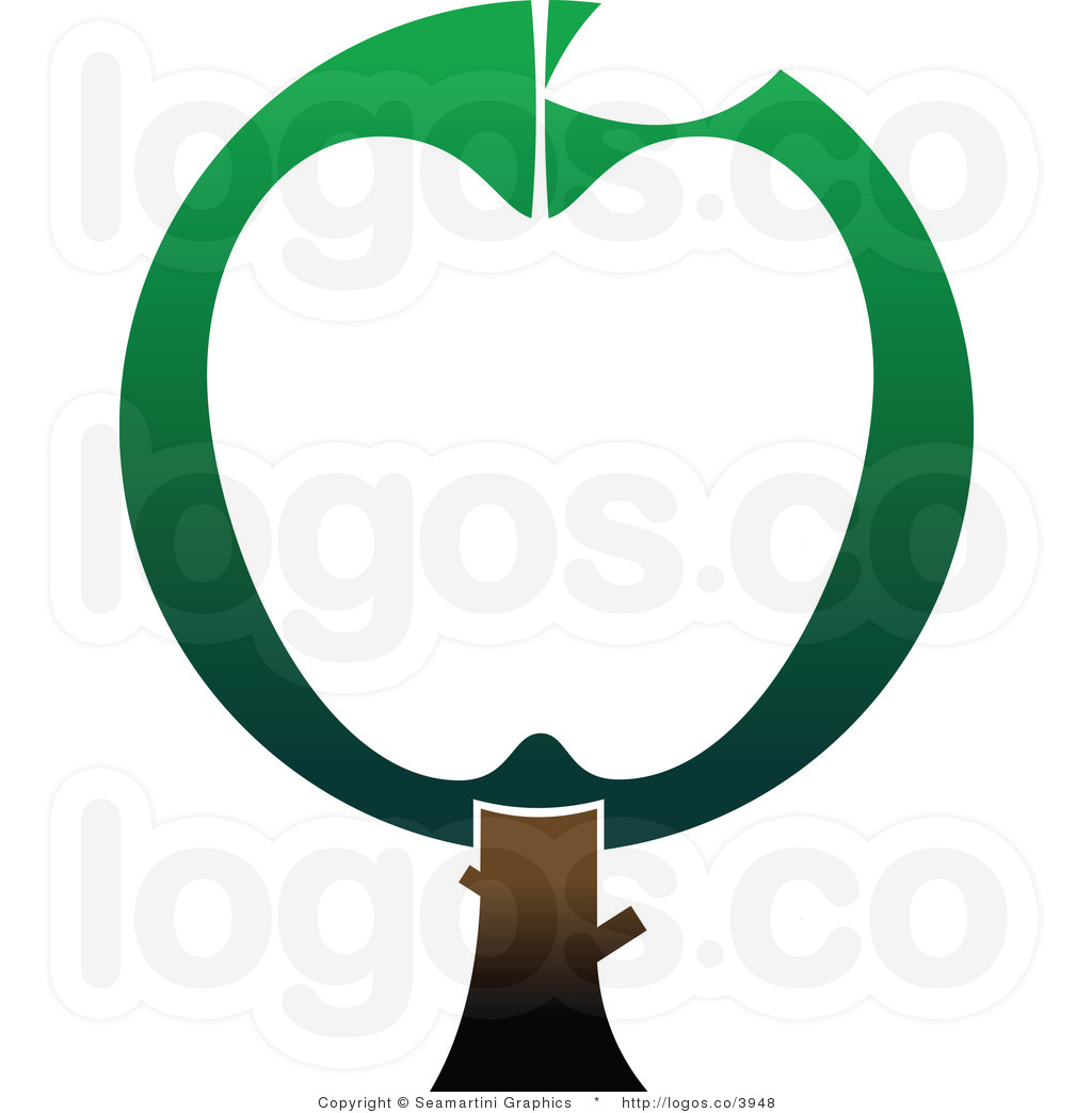 Green Apple Tree Clipart Royalty Free Green And White Apple Tree Logo