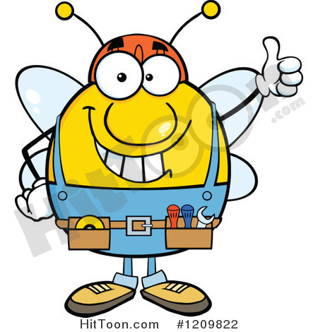 Happy Workers Clipart Happy Worker Bee Mascot
