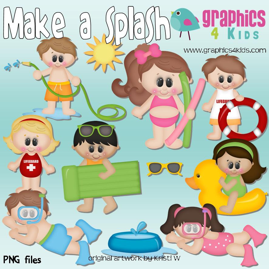 Make A Splash Digital Clipart Clip Art For By Graphics4kids