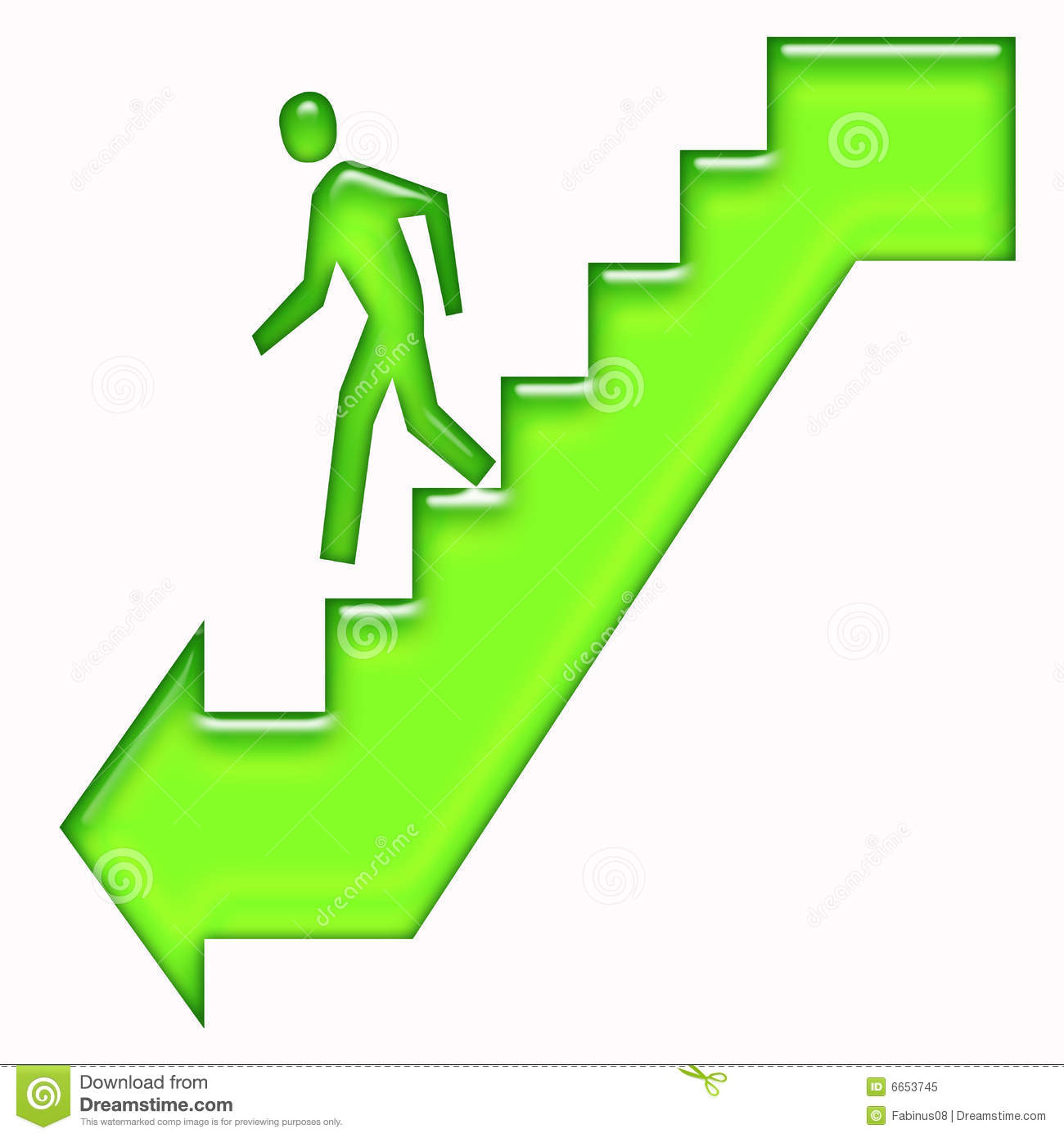 Of Person Walking Down Stairs Sign With Directional Arrow Clipart