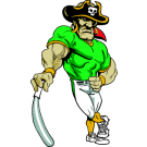Pirate Leaning On Baseball Bat