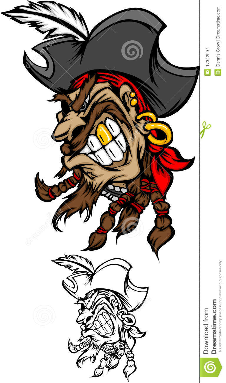 Pirate Mascot Logo Royalty Free Stock Photography   Image  17342997