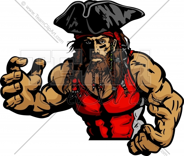 Pirate Wrestling Clipart Vector Image   Sports Clipart