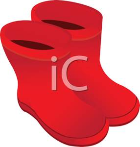 Red Rubber Boots Clipart