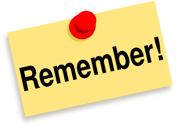 Remember Sticky Note Clip Art At Clker Com Vector Clip Art Online