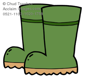 Rubber Boots For Bad Weather Or Gardening   Royalty Free Clip Art