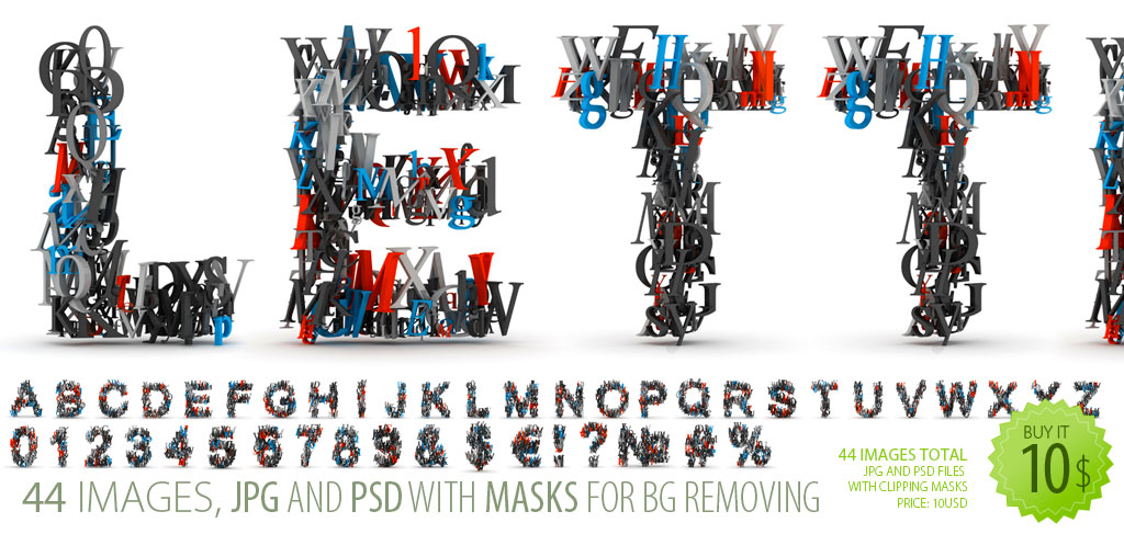 With The High Resolution The 3d Letters Font Clipart Delivers