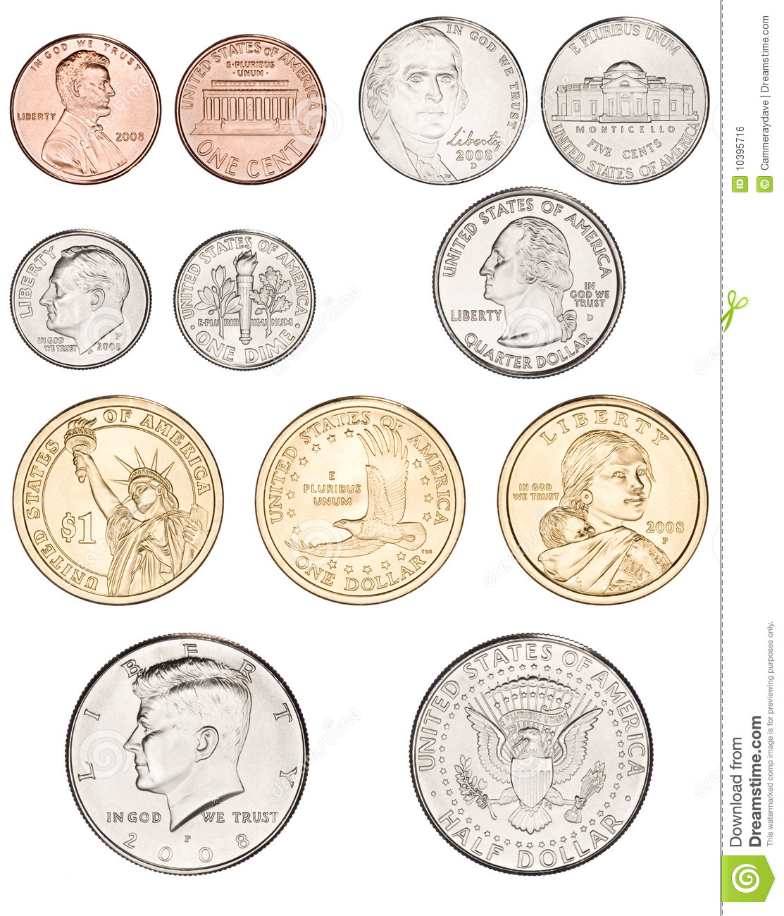 American Coins Clipart American Coins Money