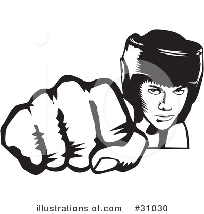 Boxing Clipart  31030   Illustration By David Rey