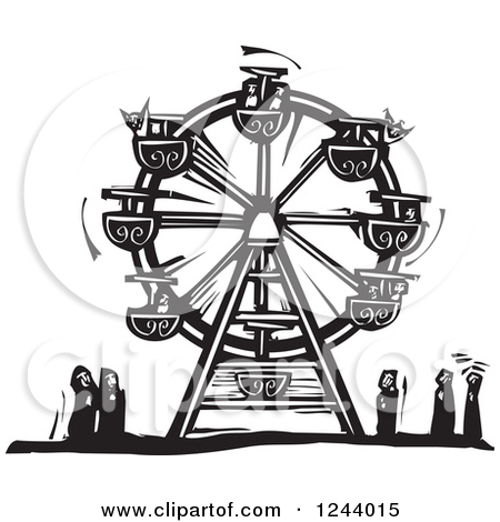 Carnival Illustration Black And White Clipart Of A Black And White