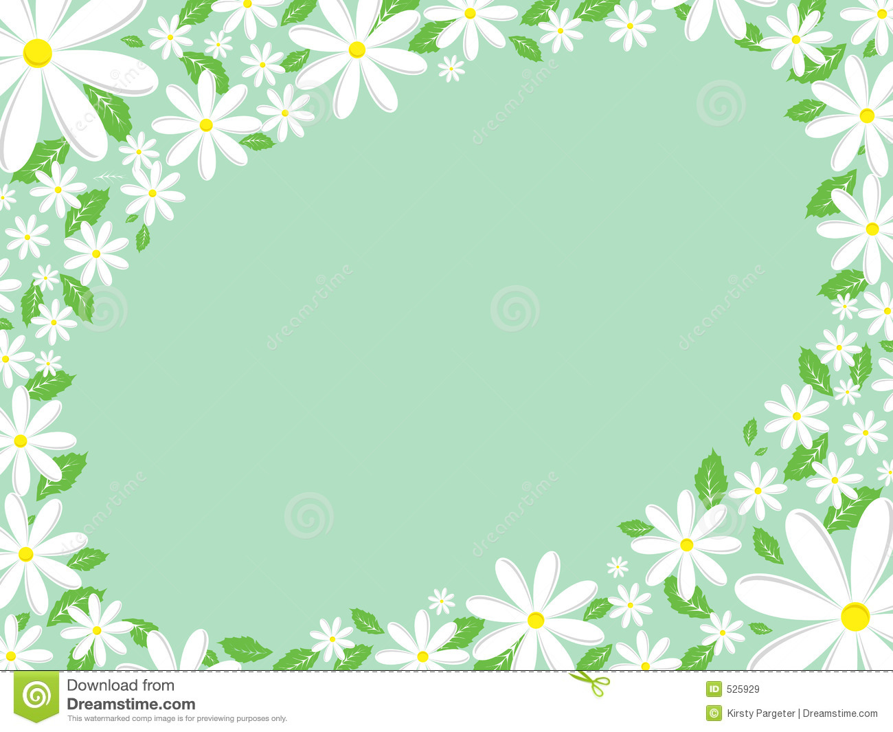 Daisy Border Royalty Free Stock Images   Image  525929