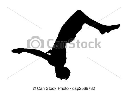 Doing A Somersault To Jump Into The Water Csp2569732   Search Clipart