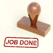 Done Stamp Shows Completed Or Finished Work   Royalty Free Clip Art