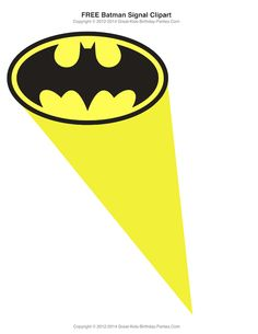 Free Superhero Printables   Bat Signal In The Sky Clipart Lots Of