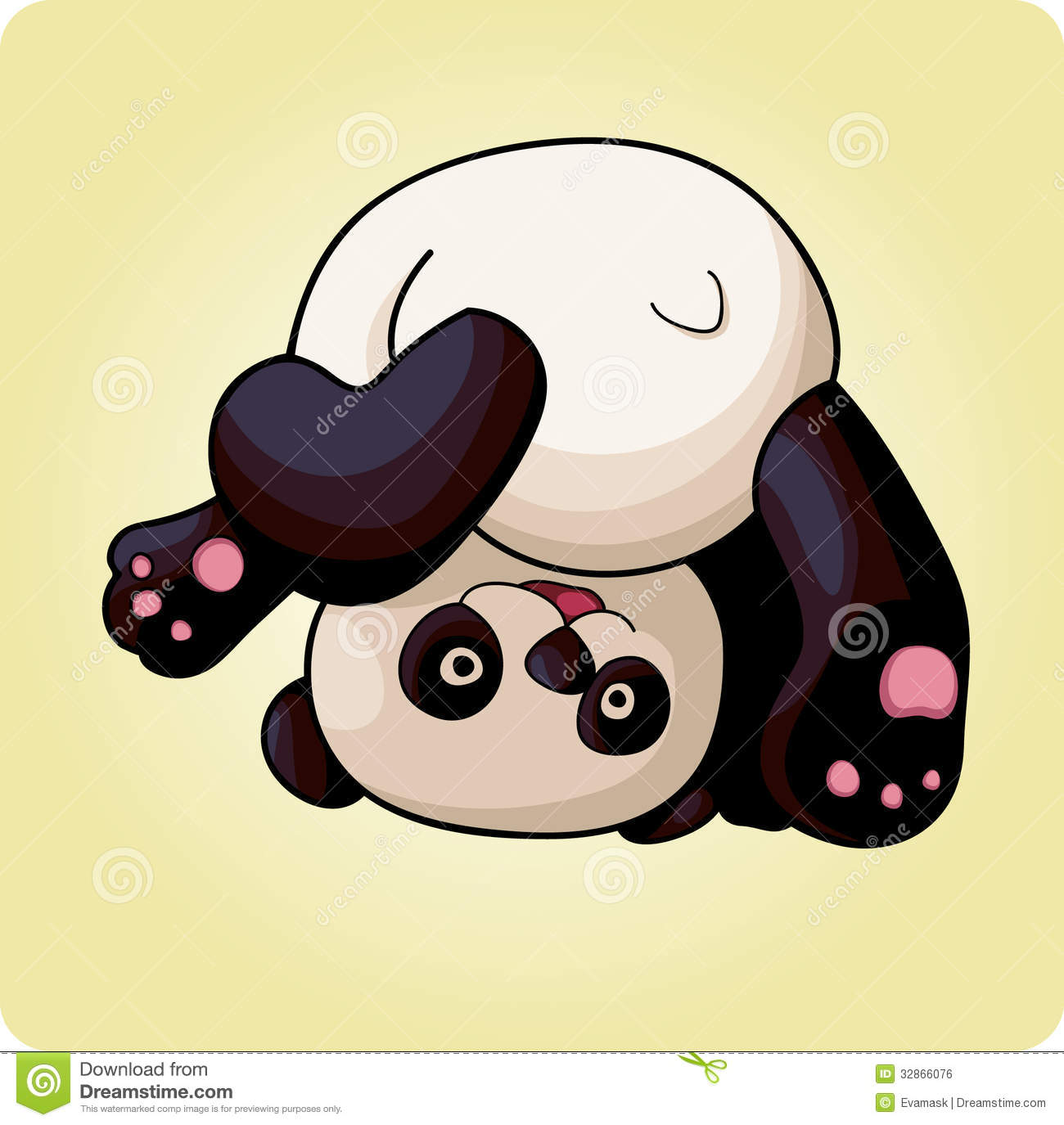 Funny Panda Does A Somersault Royalty Free Stock Image   Image