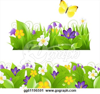 Garden House Design   Home Redesign Garden Clipart Border With