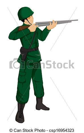 Illustration Of A Soldier Action Figure Csp16954323   Search Clipart