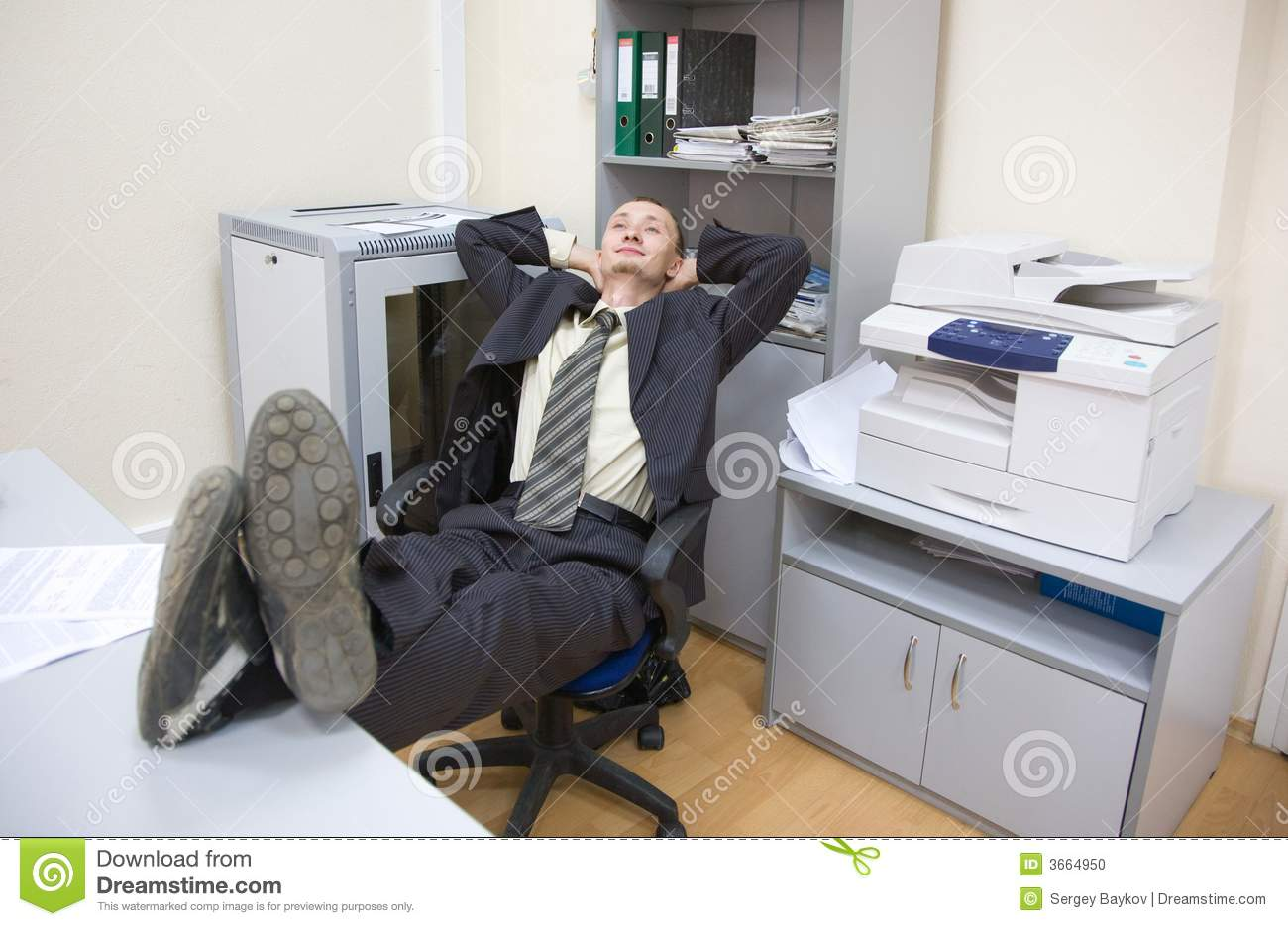 Relax After Finished Work Stock Photo   Image  3664950