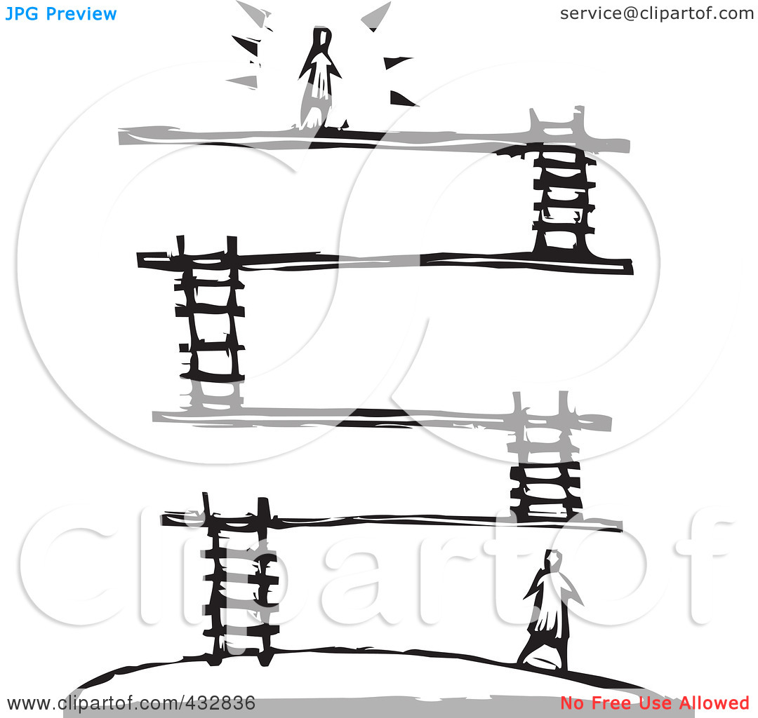Royalty Free  Rf  Clipart Illustration Of A Black And White Woodcut