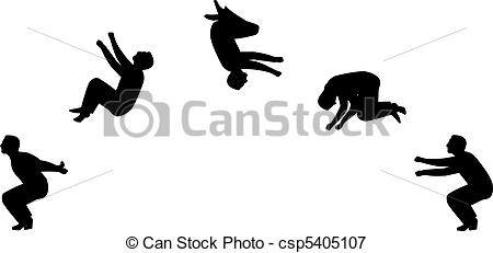 Somersault In Sillhouette    Csp5405107   Search Eps Clipart Drawings