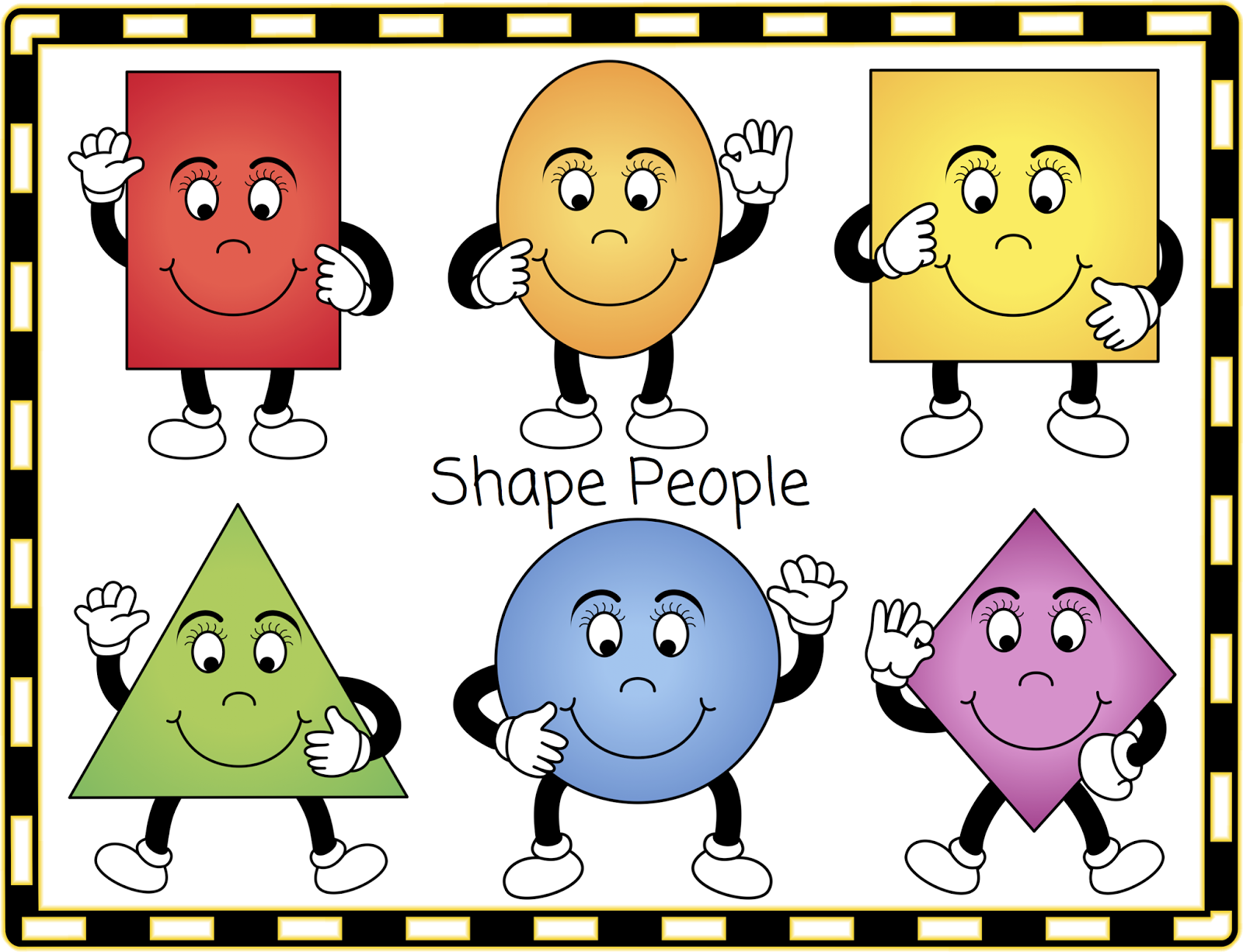 The Shape People  The Shapes Will Size To A3 And Are In Png Format