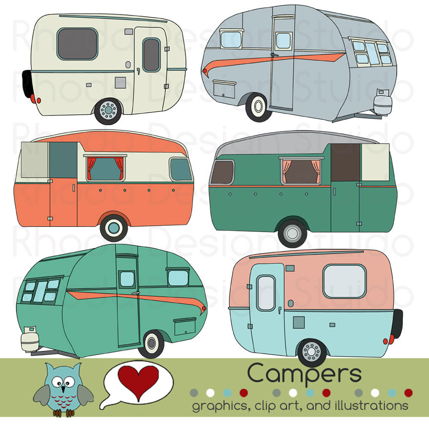 Vintage Camping Clipart - Clipart Kid