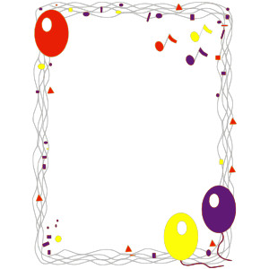 Balloon Borders Clipart6