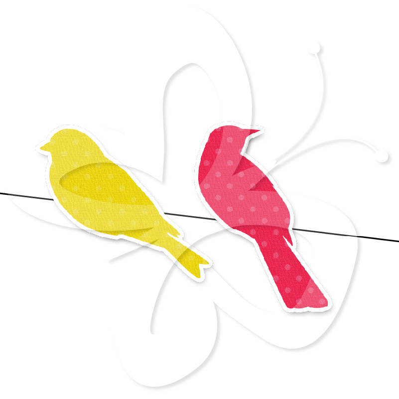 Bird On A Wire Silhouette Clipart Rainbow Bird Silhouettes On
