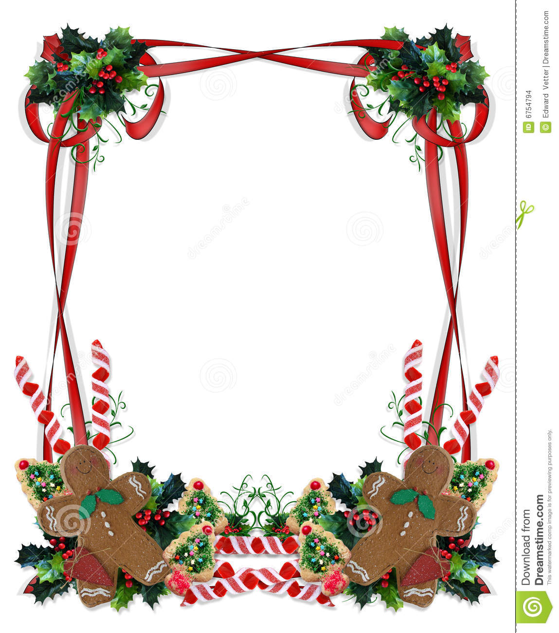 Christmas cookie border clip art images amp pictures becuo
