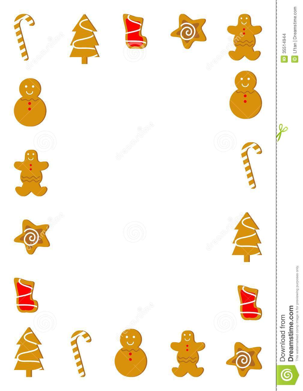 Christmas Cookies Border Stock Images   Image  35514944