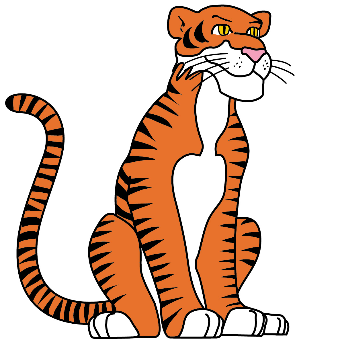 Cartoon Tiger Drawing - ClipArt Best