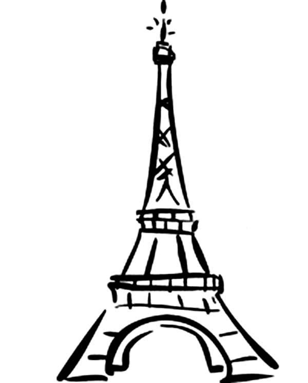 eiffel tower cartoon clipart clipart suggest