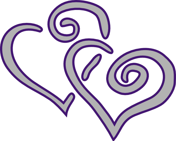 Entwined Hearts Clipart Http   Www Clker Com Clipart Purple Silver