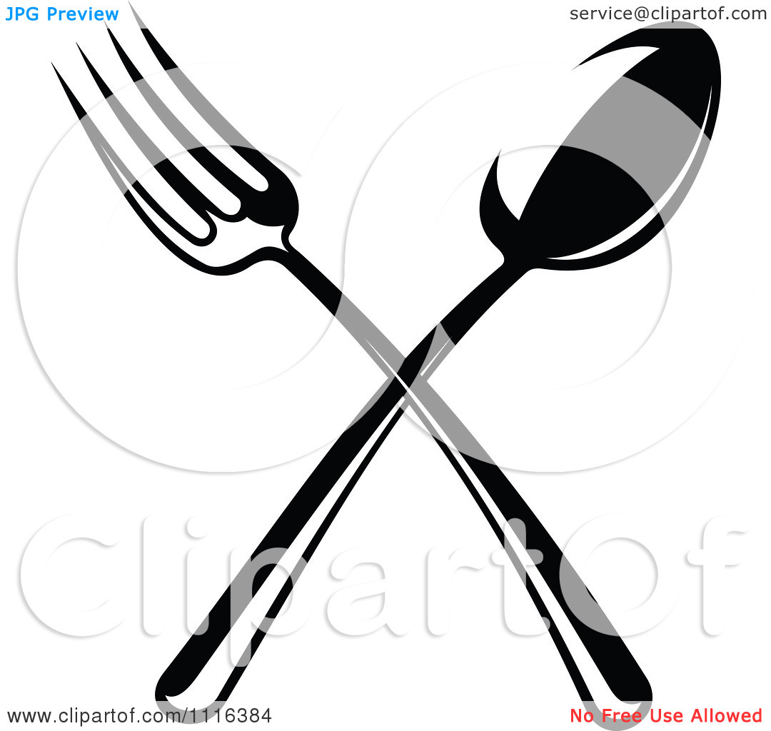 Fork Clipart Clipart Black And White Dining And Restaurant Crossed
