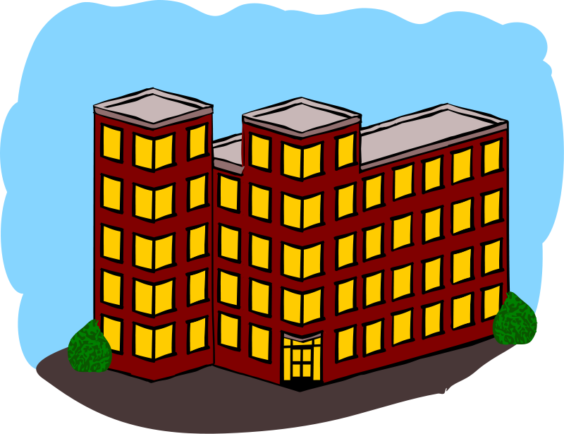 Free Apartment Building Clip Art