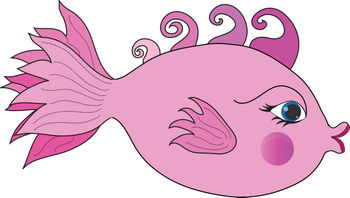 Kissing fish character gallery for Pink kissing fish