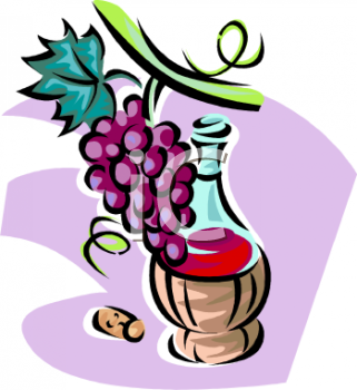 Wine And Grapes Clipart - Clipart Kid