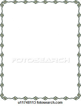 Green Diamond Border View Large Clip Art Graphic