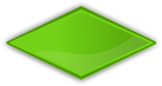 Green Diamond Shapes Clipart - Clipart Suggest