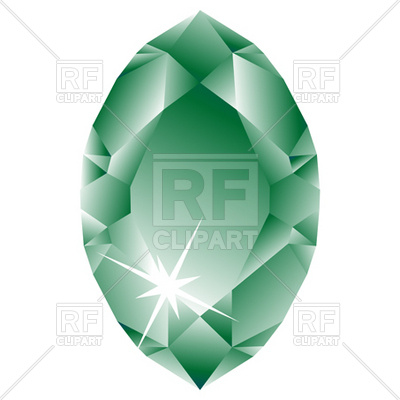 Green Oval Diamond Download Royalty Free Vector Clipart  Eps