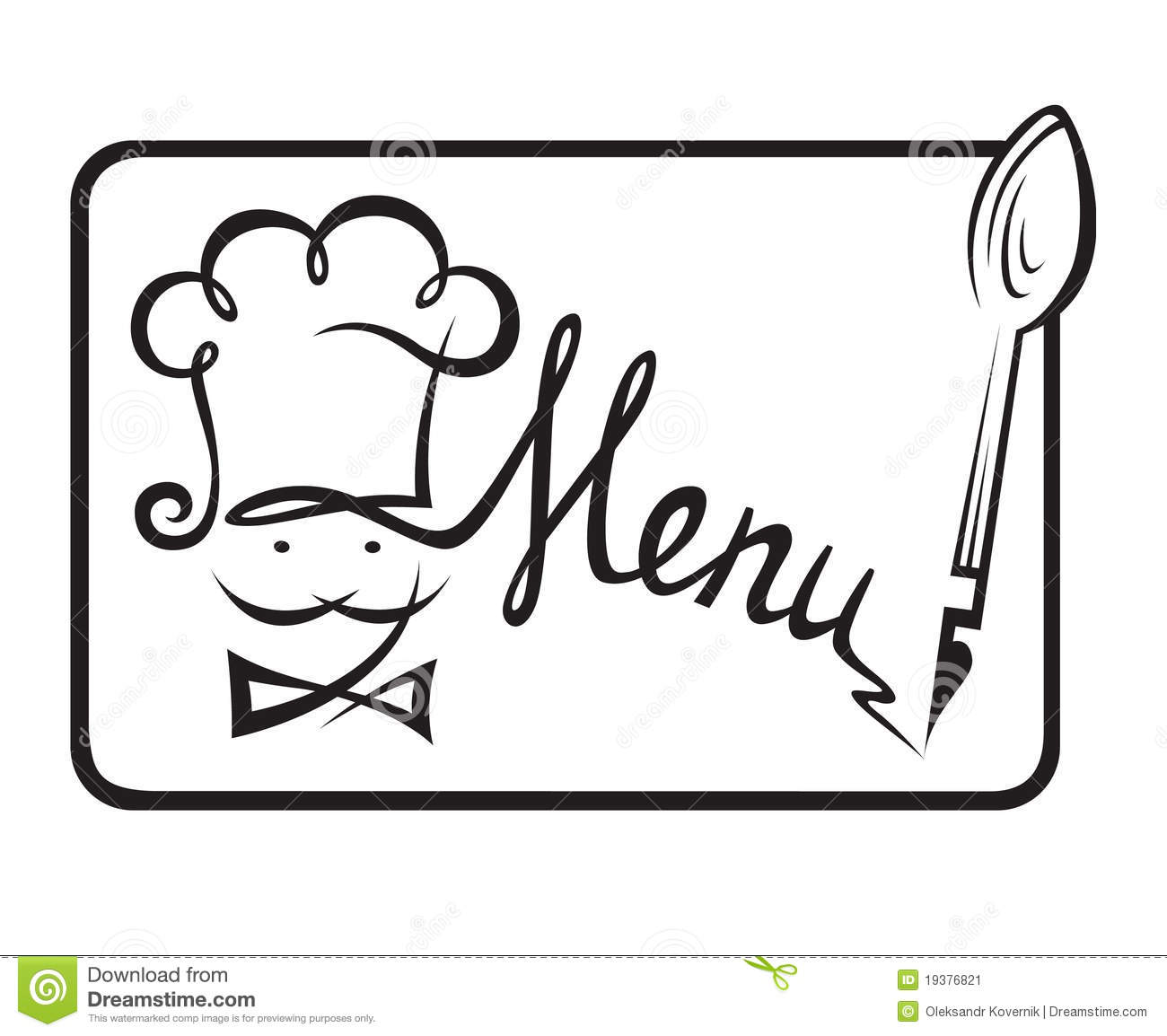 restaurant menu clipart - photo #33