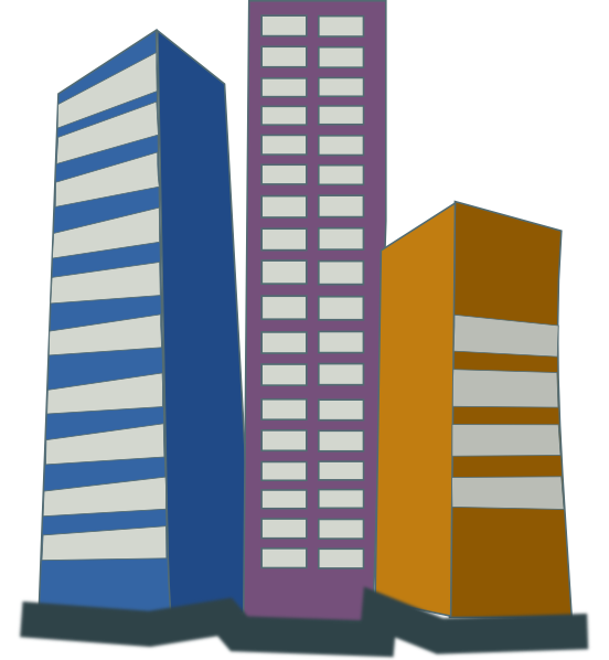 Real Estate High Rise Buildings Clip Art At Clker Com   Vector Clip