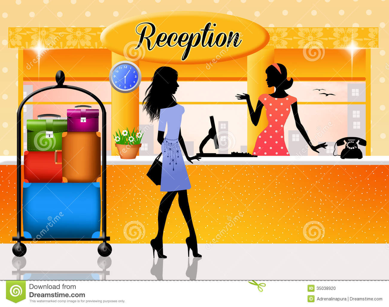 Hotel Front Desk Clipart - Clipart Kid